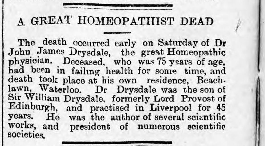 Drysdale 22ndAugust1892