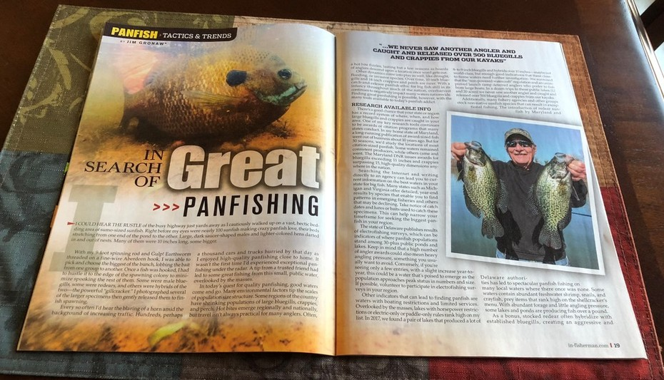 Looking Forward To This Year's In-Fisherman Panfish Guide