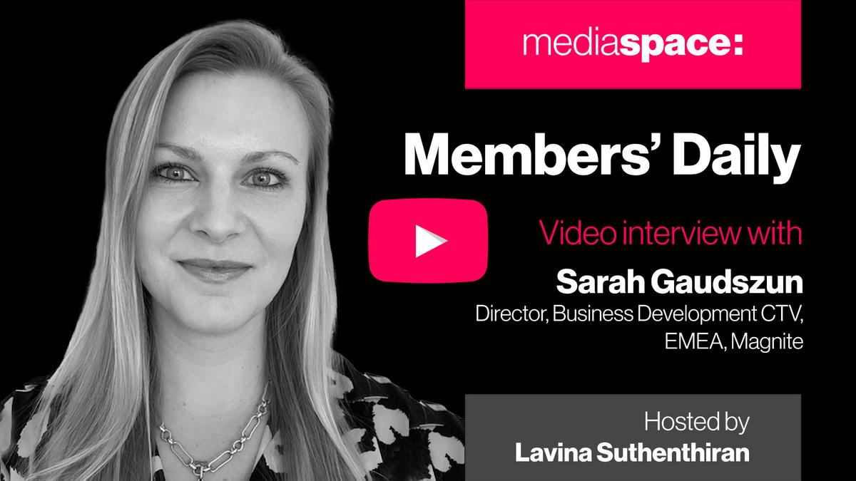 Exclusive video interview with Sarah Gaudszun, Magnite