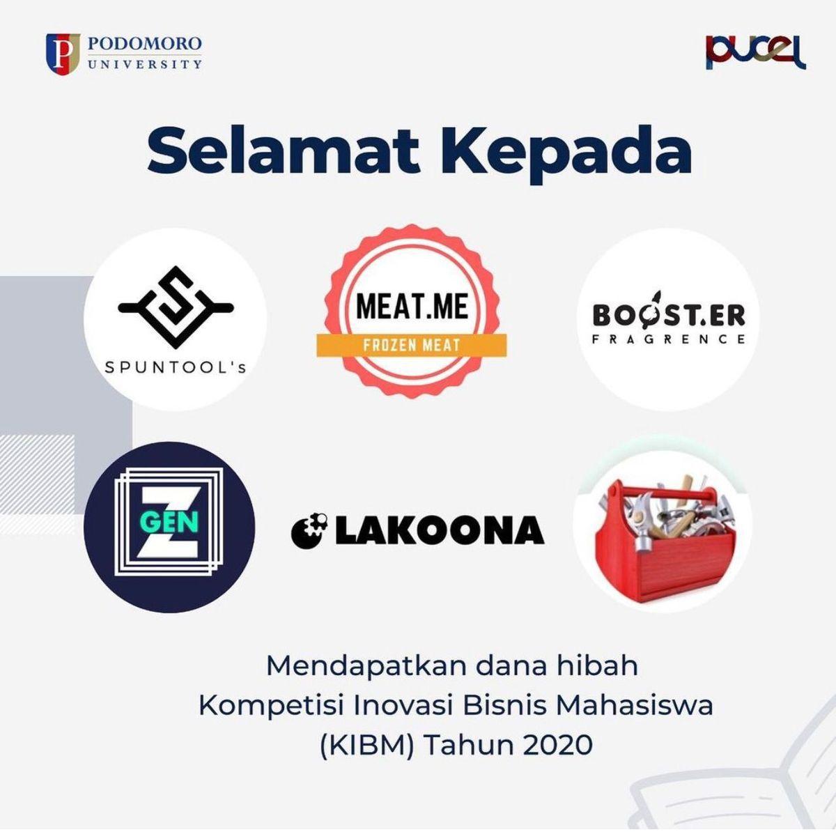 Penerima Dana Hibah Kompetisi Inovasi Bisnis Mahasiswa (KIBM) 2020