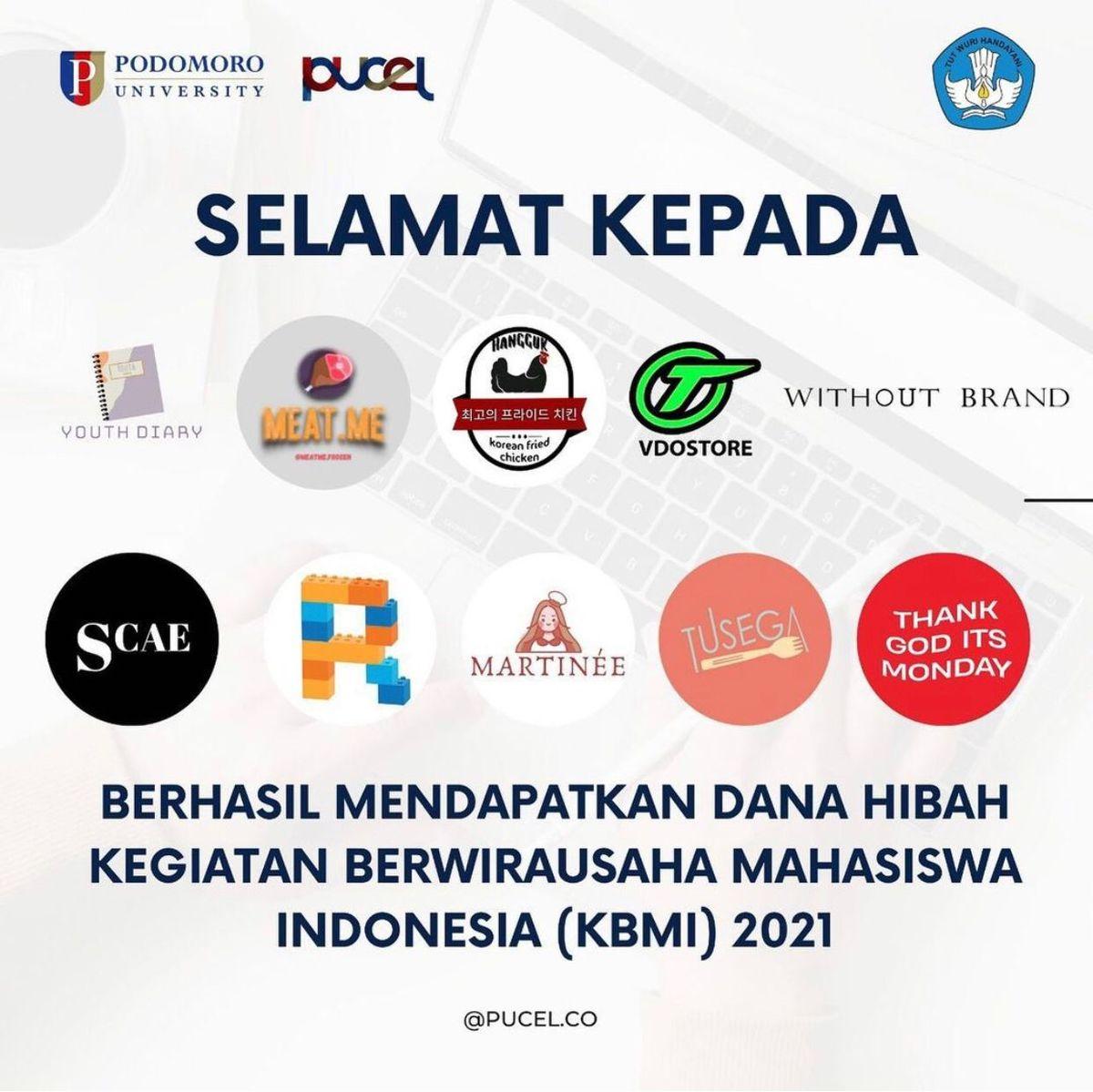 Penerima Dana Hibah Kegiatan Berwirausaha Mahasiswa Indonesia (KBMI) 2021