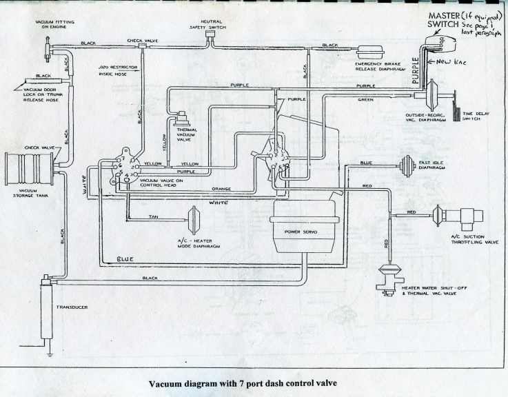 1964 Cadillac AC with a 7 port Vacuum control valve - 63 ...