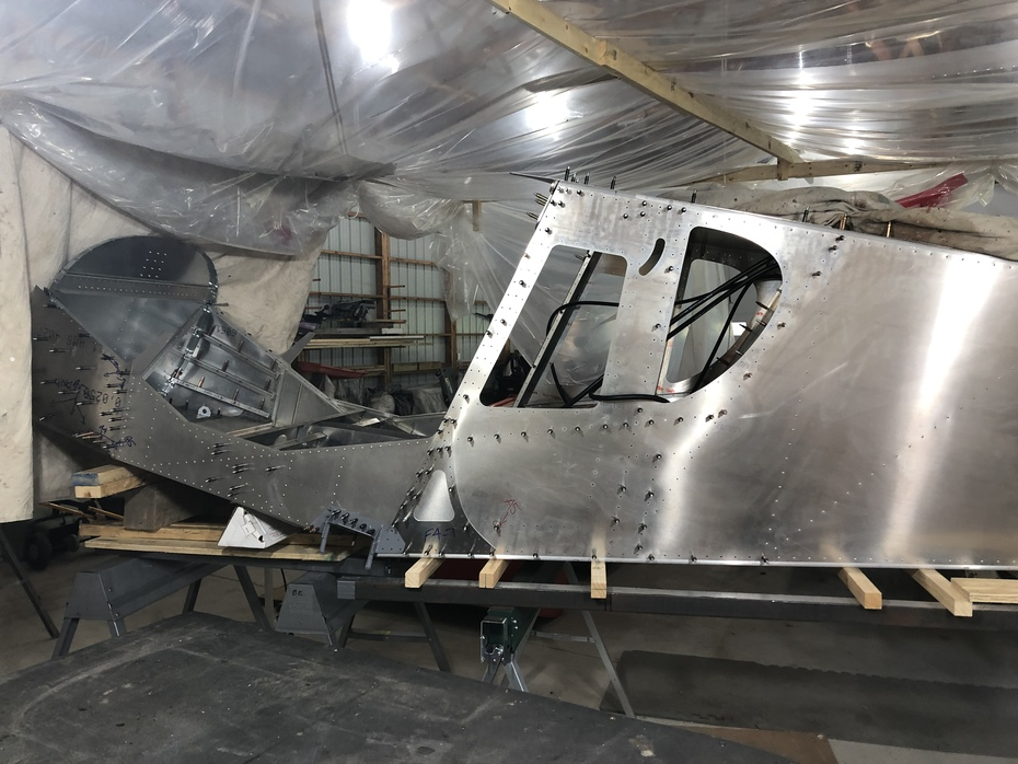 Fuselage sections mated.