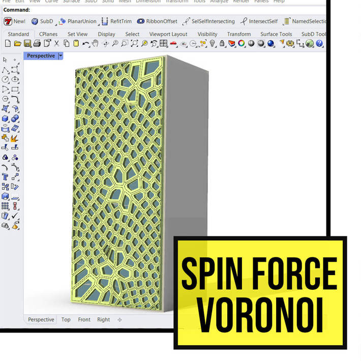 Spin force voronoi