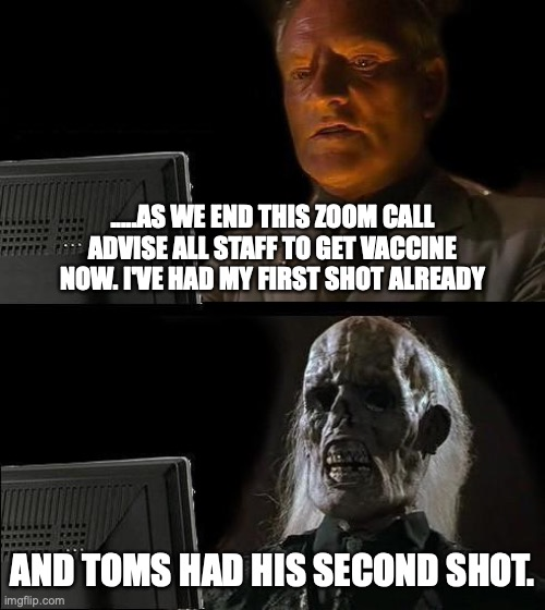 Tell staff to get shot.