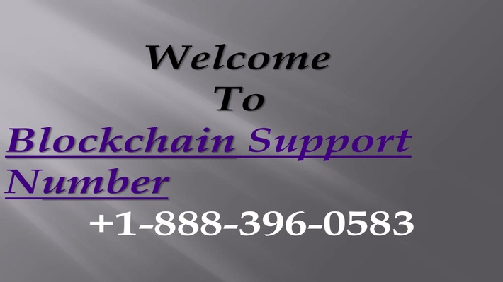 Blockchain Custome rSupport Number1-888-396-0583