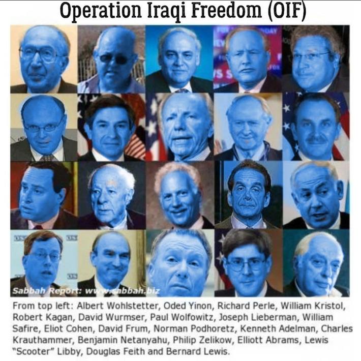 Operation Iraqi Freedom (OIF) -Evil Jews and Goyim Minions