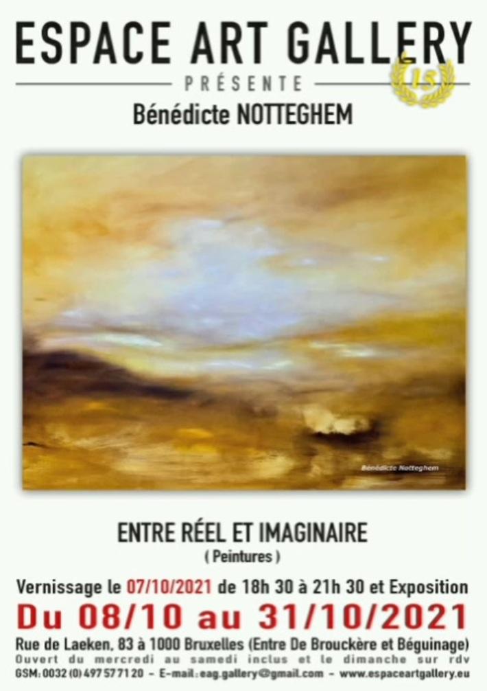 Prochainement: vernissage le 7 octobre 2021 à l'Espace Art Gallery, à Bruxelles (centre)