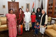 With President Pranab Mukherjee