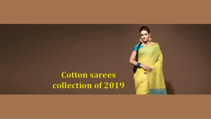 Latest Cotton sarees collection online on Mirraw