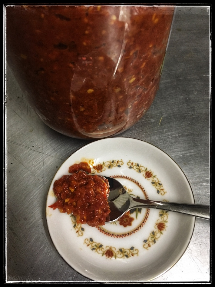 Mexican style fermented chili sauce