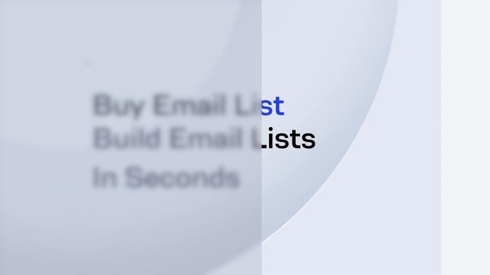 Buy Email List | B2B Email Lead