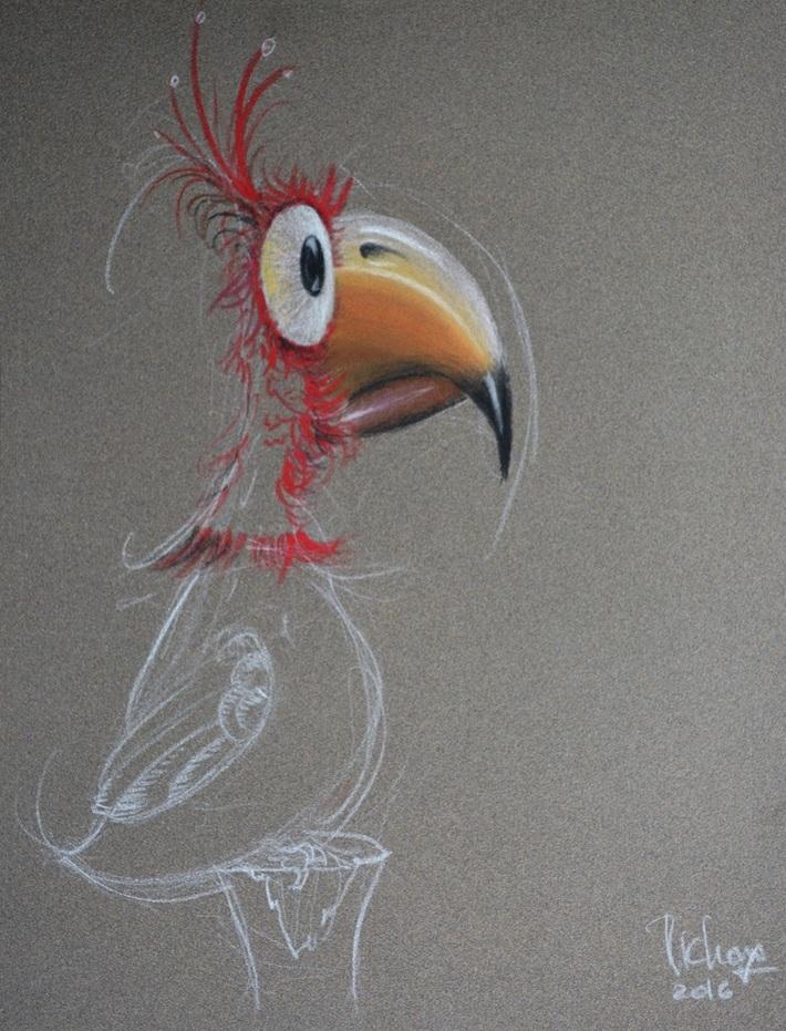 Oiseau Surpris.