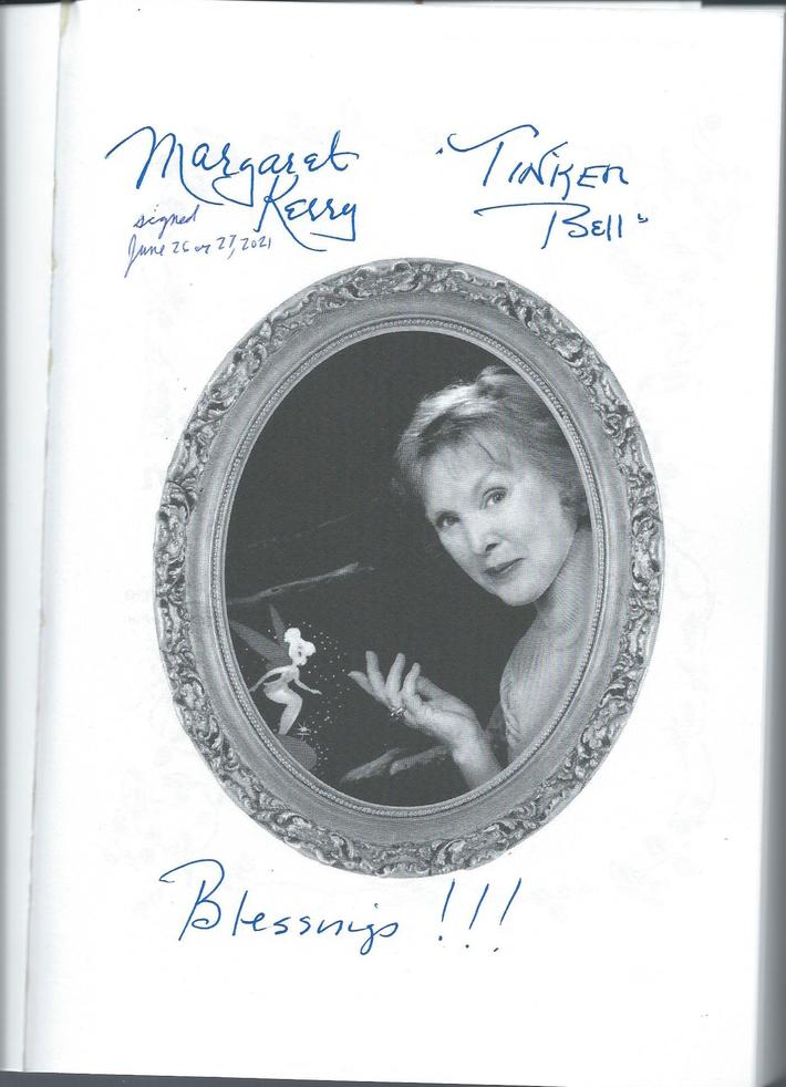 Margaret Kerry signed book. Ordered Sept. 9, 2021. Received on