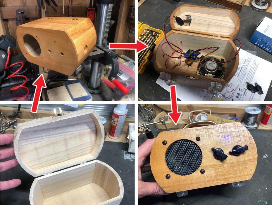 Jewelry Box to Guitar Amp