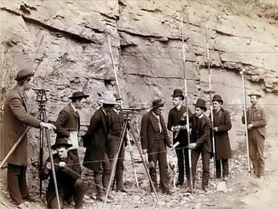 These guys sure knew how to work together on a project.. #surveyinghistory Army Corp of Surveyors 1928