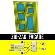 zigzag facade