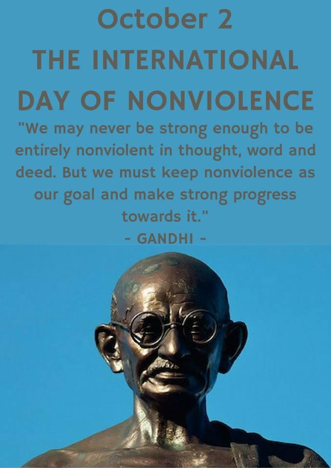 INTERNATIONAL DAY OF NONVIOLENCE