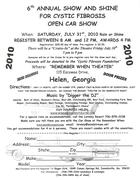 6th Annual Show and Shine for Cystic Fibrosis -Helen, GA