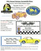 50th Anniversary Griffin Georgia AACA Car Show in Hampton, GA. City Park