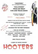 "HOOTERS ""HALLOWEEN"" TRICK OR TREAT CAR AND TRUCK SHOW -Kennesaw, GA"