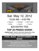 3RD Annual Daryl Shook Memorial Car Show -Gainesville, GA