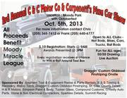 3rd Annual C & C Motor Co  & Carpenetti's Car Show Benefiting The Moody Miracle League In Moody AL 35004