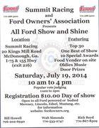 All FORD Show-(At Summit) -McDonough, GA