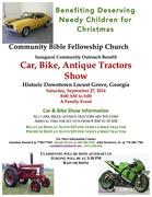 Community Outreach Benefit Backyard BBQ Competition/Car & Bike Show -Locust Grove. GA