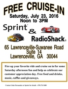 Free Cruise-In,  Lawrenceville, GA,  Sprint & RadioShack Customer Appreciation Day