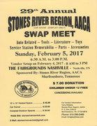 29th Annual Stones River Swap Meet,  Nashville, TN