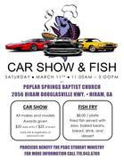 Poplar Springs Baptist Church Car Show and Fish Fry -Hiram, GA