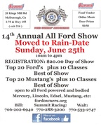 ALL FORD SHOW -Due to rain change to 6/25