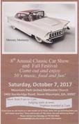 8th Annual Classic Car Show and Fall Festival
