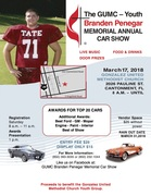 Gonzalez United Methodist Church/Branden Penegar Memorial Car Show -Cantonment, FL