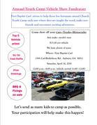 Annual Youth Camp Vehicle Show Fundraiser, Auburn GA