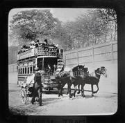 Manor House Horse Tram (Magic Lantern Slide) c1900