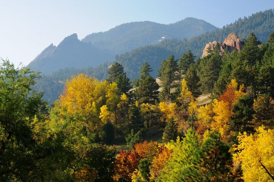 Flatirons and fall color