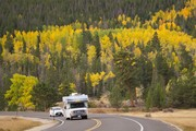 RV vacation in Rocky Mountains