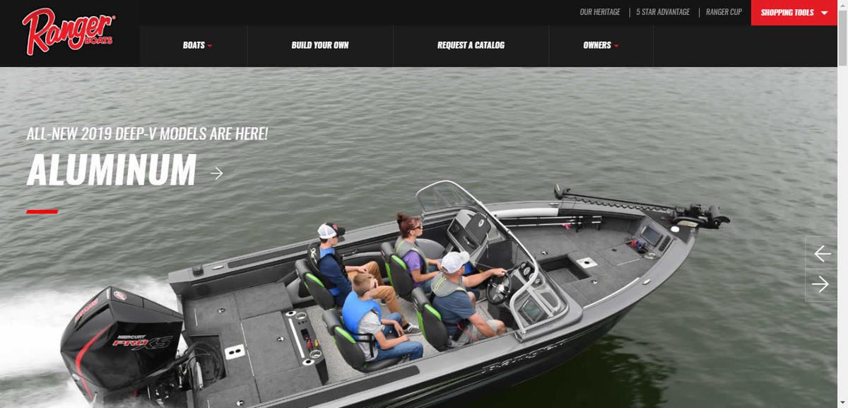 Ranger Boats Website