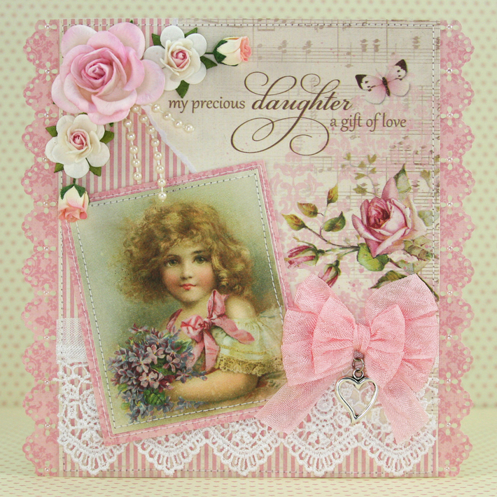 """Card using """"My Precious Daughter"""" by Pion Design"""
