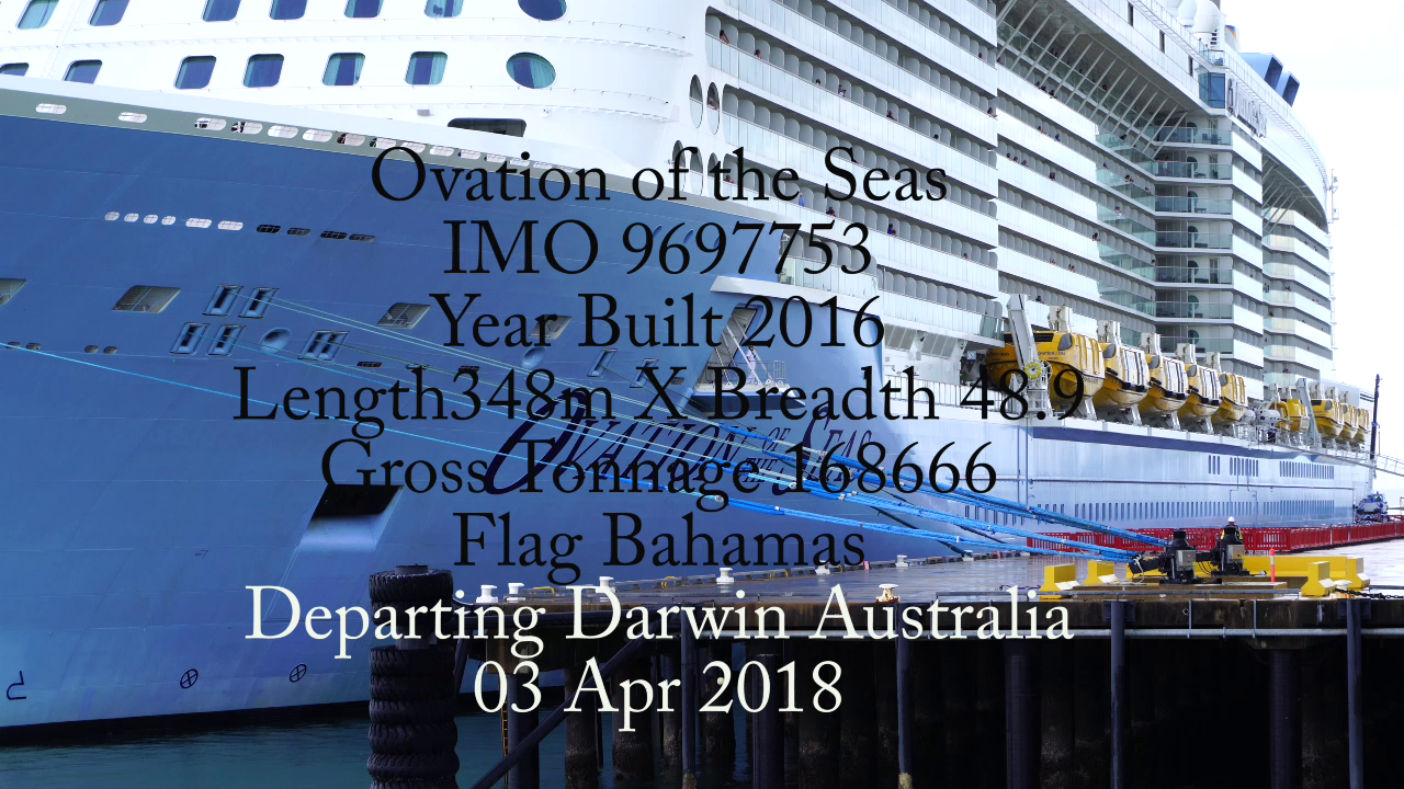Ovation of the Seas IMO 9697753 Darwin Australia project13
