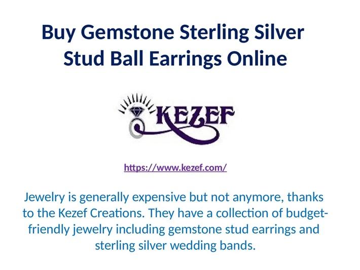 Buy Gemstone Sterling Silver Stud Ball Earrings Online at Kezef