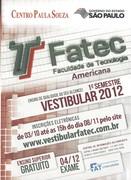 Vestibular FATEC Americana - 1o.Semestre  2012
