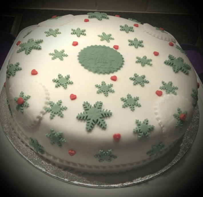 Eenvoudige kersttaart