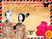 Gabriela Mistral y Violeta Parra