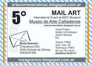 5° Evento Internacional - Arte Correo - Museo de Arte Cañadense - Argentina